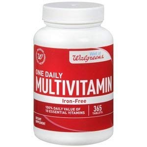 Walgreens One Daily Multivitamin without Iron, Tablets, 365 - Iron No Multivitamin