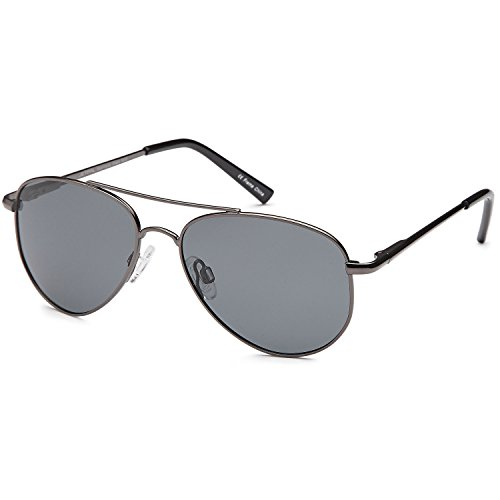 JETPAL Kids Polarized Classic Metal Aviator Style Sunglasses with Spring - Sunglasses Style Aviator