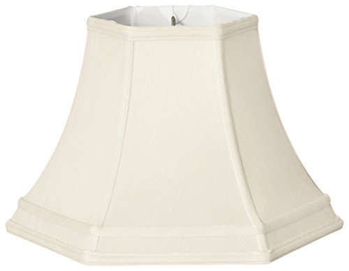 Royal Designs BS-741-12WH Hexagon Bell Gallery Basic Lamp Shade, 6 x 12 x 9.2, White