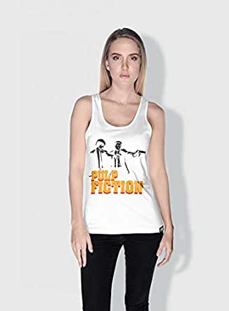 Creo Pulp Fiction Movie Posters Tanks Tops For Women - M, White