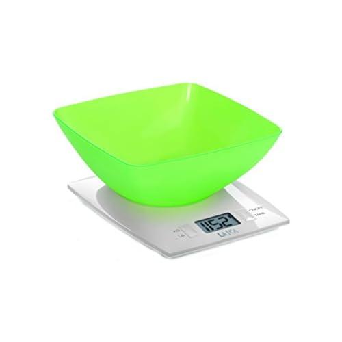 chollos oferta descuentos barato Balanza de cocina digital con BOL de gran capacidad Laica KS1012 en color verde pesa hasta 3 kg encendido y apagado automático función TARA