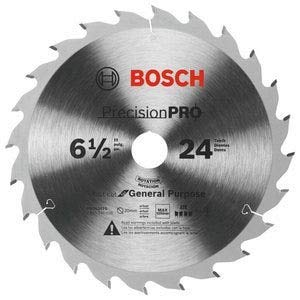 Bosch PRO624TS 6-1/2 In. 24-Tooth Precision Pro Series Track Saw Blade ()