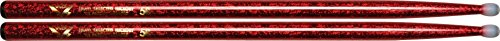 Vater Percussion Color Wrap 5B Red Sparkle Nylon Tip