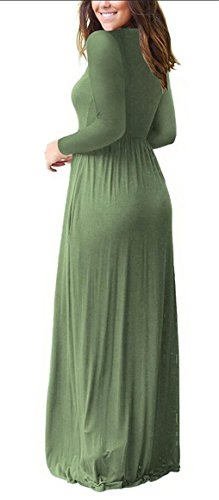 Leisure Pocket Neck Hidden Scoop Womens Jaycargogo 8 Sleeves Long Dress xP0qS5n