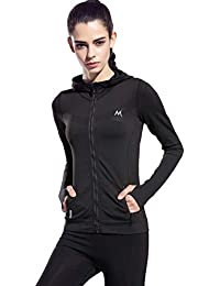 Womens Stretchy Workout Dri-Fit Hooded Jacket