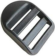 """10 Pcs 1"""" (25mm) Plastic Tension Locks Triglide for Belt Backpack Camping Bag Belt Suitcase (B"""