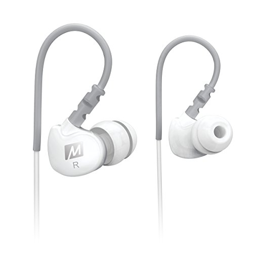 MEE audio Sport-Fi M6 Noise Isolating In-Ear Headphones with Memory Wire (White)