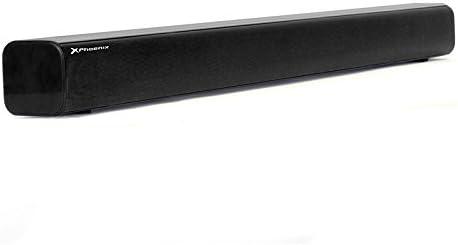 Phoenix Technologies PHSBBT - Barra de sonido con Bluetooth (25 W, USB, Radio FM, pantalla LED), color negro
