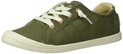 Roxy Women's Bayshore Slip On Shoe Sneaker, Army Green, 8 M US
