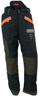 Oregon Waipoua - Pantalones de motosierra tipo C, talla L, color negro EN381-5, 20 m/s