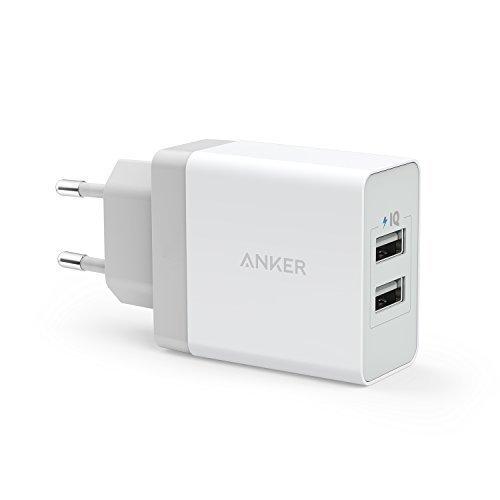 Anker, caricabatterie USB da 24 W, con 2 porte, con tecnologia PowerIQ