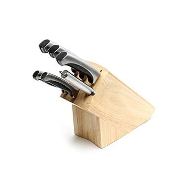Ross Henery Professional Knives, 6 Piece High Grade Stainless Steel, Kitchen Knife Set in Oak Block