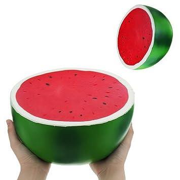 Gigante Watermelon Jumbo Squishy Toys 9.84in 25*25*14CM Fruta Enorme Slow Rising Squishies Kawaii Juguete Suave antiestrés
