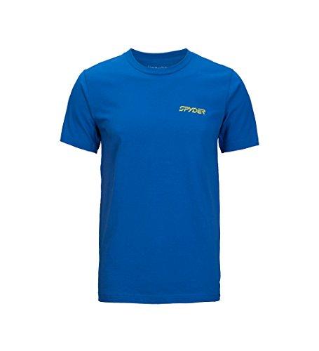 - Spyder Men's Mountain Stripe Organic Cotton Short Sleeve T-Shirt, Organize Nautical Blue/Organic Nautical Blue, X-Large