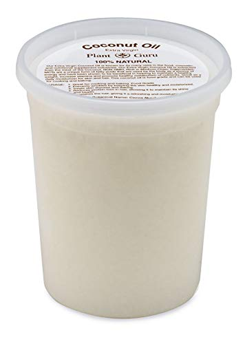 Extra Virgin Coconut Oil 32 oz. Bulk 100% Pure Unrefined Cold Pressed For Skin, Body and Hair Growth. Perfect for DIY Creams, Lip Balm, Lotion, Bath Bomb and Soap Making