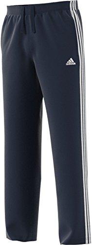 adidas Men's Essentials 3 Stripe Regular Fit Fleece Pants (X-Large Tall, Collegiate Navy-White)