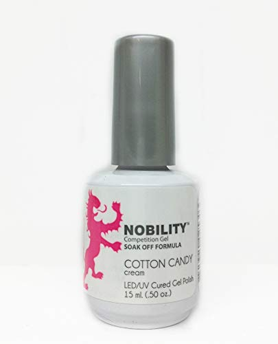 Lechat NOBILITY - Soak Off LED/UV Gel Color Polish 0.5oz/15ml (NBGP80 - Cotton Candy - Nobility Soak