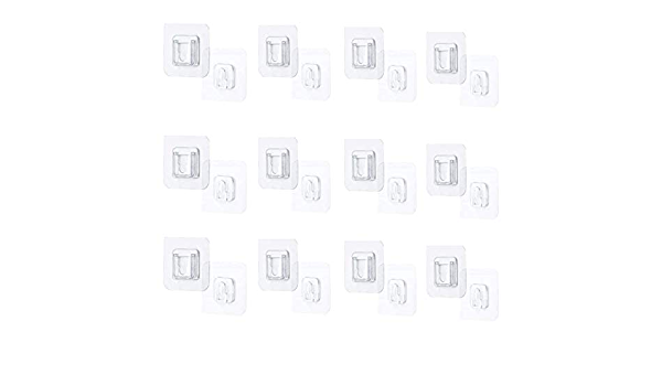 Details about  /10pcs removable Double-sided self adhesive wall hooks Anti slip Transparent