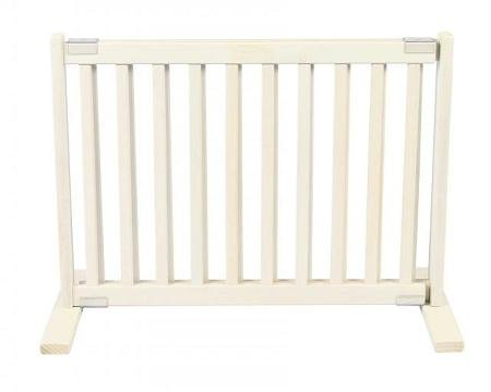 20 in. H All Wood Small Freestanding Gate in White Finish by Dynamic Accents