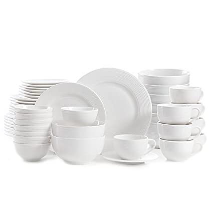 Gibson Regent Street 48-Piece Dinnerware Set | Strong and durable the set resists  sc 1 st  Amazon.com & Gibson Regent Street 48-Piece Dinnerware Set | Strong and durable the set resists staining and chipping
