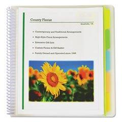 C-Line 33650 10-Pocket Poly Portfolio with Write-On Tabs Polypropylene (Cline Quick Cover)