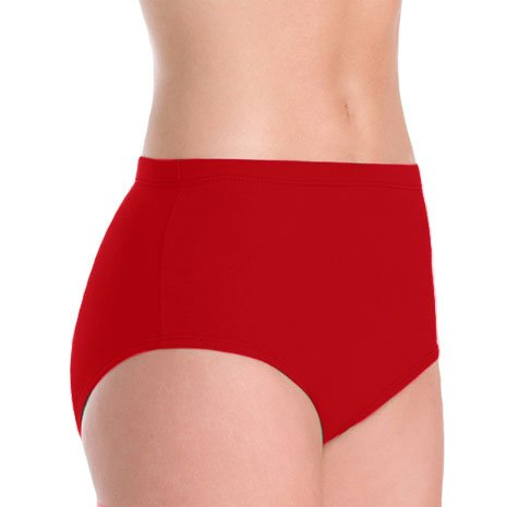 100% Stretch Nylon Brief Trunks, YS, Cardinal - Cardinal Boy Brief