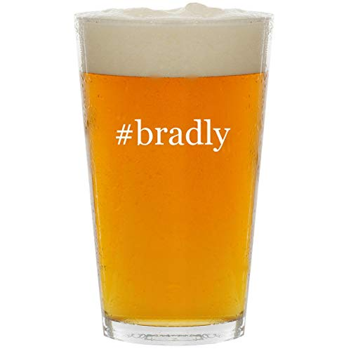 #bradly - Glass Hashtag 16oz Beer Pint -