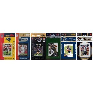 NFL St. Louis Rams Six Different Licensed Trading Card Team Sets