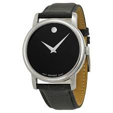 Movado Men's 2100002 Museum Black Stainless Steel Watch (Movado Slim Watch)