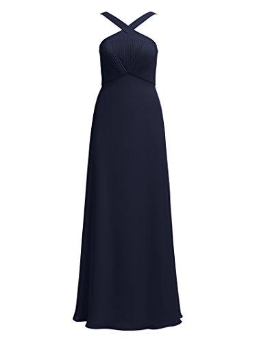 Alicepub Robes De Demoiselle D'honneur Sangle Croix Pour Les Femmes Sexy Cocktail Robe De Bal De Soirée Bleu Marine