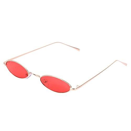 sol retro Gafas TOOGOO Gafas rojo redondas sol Amarillo pequenas women sol S8011 de de Ladies de Eyewear Gafas Mujeres Vintage 6ffwqO