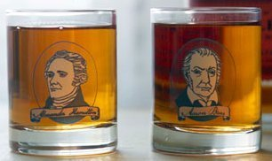 Fishs Eddy Dueling Shots Hamilton and Burr - Set of Two