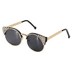 Crystal Cat Eye Sunglasses With Rhinestone