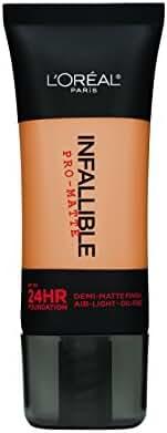L'Oreal Paris Infallible Pro-Matte Foundation Makeup, Natural Buff, 1 fl. oz.