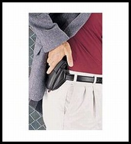 3 Slide Super Holster Belt - Uncle Mike's Off-Duty and Concealment Kodra Nylon Super Belt Slide Holster (Size 19, Black)
