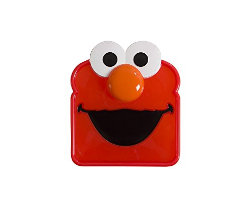 Sesame Street Sandwich Sav'r Elmo Sandwich Box for Kids Lunch Snacks, To-Go Snack Storage Container