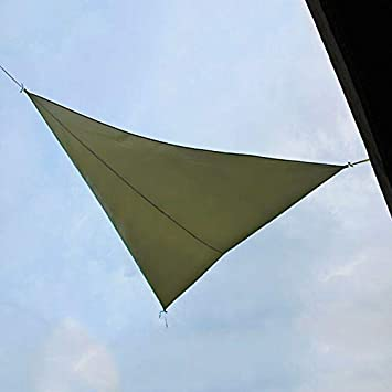 HERCHR Triangle Sunshade Awning Triangle Outdoor Top Canopy Patio UV Block Awning,Green 4M4M4M