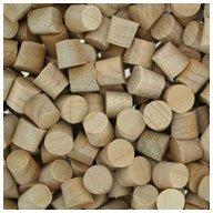 WIDGETCO 1/4'' Maple Wood Plugs, Face Grain