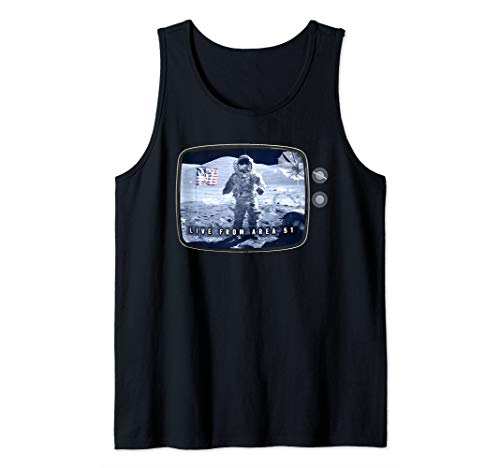 Fake Moon Landing Conspiracy Hoax Area 51 Live Broadcast Tank Top