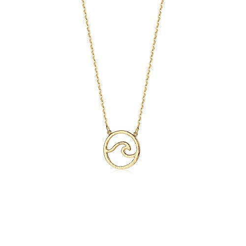 Mevecco Dainty Circle Necklace Quarter product image