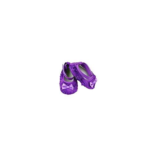 Zapato suave bebé (de 6a 18meses, Modelo Bailarina seda Viola 12/18Meses, 6Meses, 9Meses morado morado Talla:12/18 meses