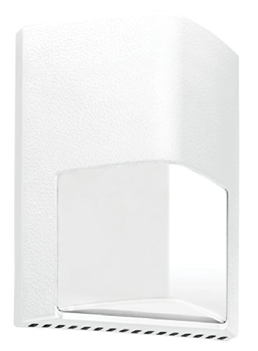 RAB Lighting ENTRA12W/PC Entra 12W Cool LED 120V PC Wallmount Light, White by RAB Lighting