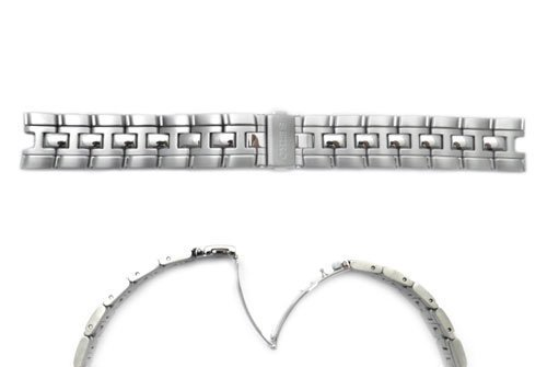 Seiko Kinetic Auto Relay Stainless Steel 19mm Push Button Fold-Over Clasp Watch - Kinetic Relay Auto Seiko