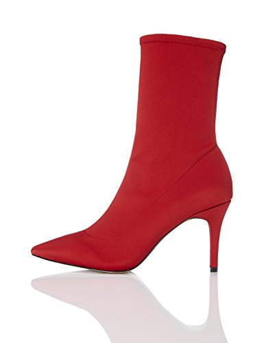 Talons red Aiguille Bottines Chaussettes Femme Rouge Find wxOEaA