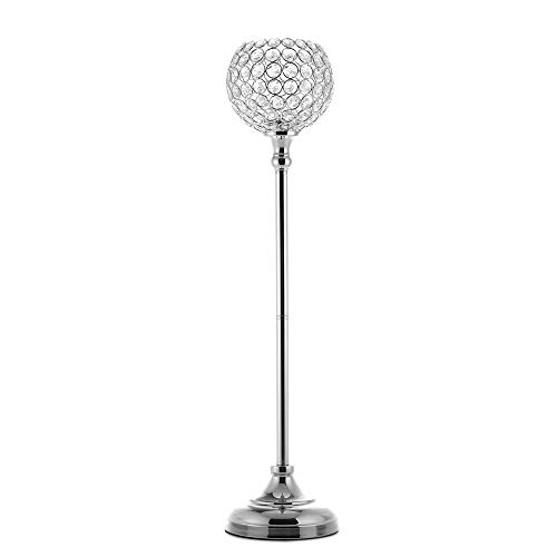 VINCIGANT Silver Pillar Candle Holders/Wedding Column/Floor Candelabra for Anniversary Celebration Table Centerpeices Decoration, 27.6 Inches Tall -
