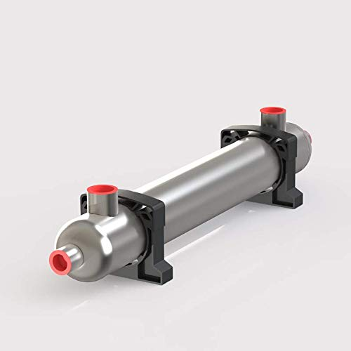 Exchanger Btu Titanium Heat (Alfa Romeo 300K BTU Titanium Shell & Tube Heat Exchanger for Salt Water Swimming Pool, SPA, Seawater Opposite Side)