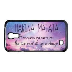 CyberStyle(TM) Hakuna Matata Hard Plastic Back Cover Case for Samsung Galaxy S4 + Free Clear Screen Protector