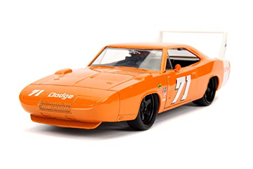 Jada Toys Big Time Muscle 1969 Dodge Charger Daytona, Orange 71, 1: 24 Scale Die-Cast Vehicle Collectible Car (1 24 Car)