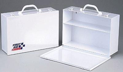 2 Shelf- industrial cabinet- empty metal case w/ swing down door- 14-3/4 in. x10-1/4 in. x4-5/8 in. - 1 ea.