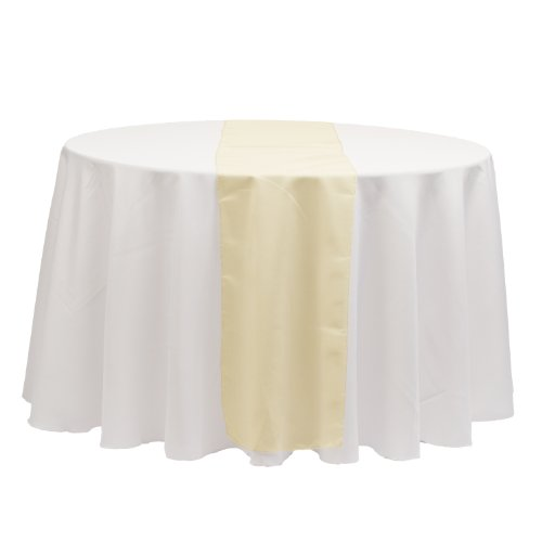 LinenTablecloth 14 x 108-Inch Organza Table Runner Gold